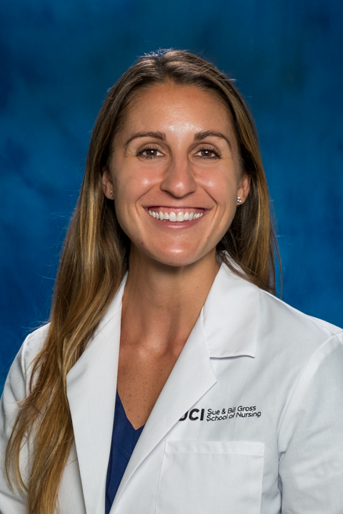 uci nursing student emily enos, who worked in the UCI Medical Center transfer center during her senior year of nursing school