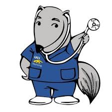 uci school of nursing anteater with stethoscope