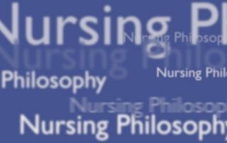 cover of nursing philosophy journal