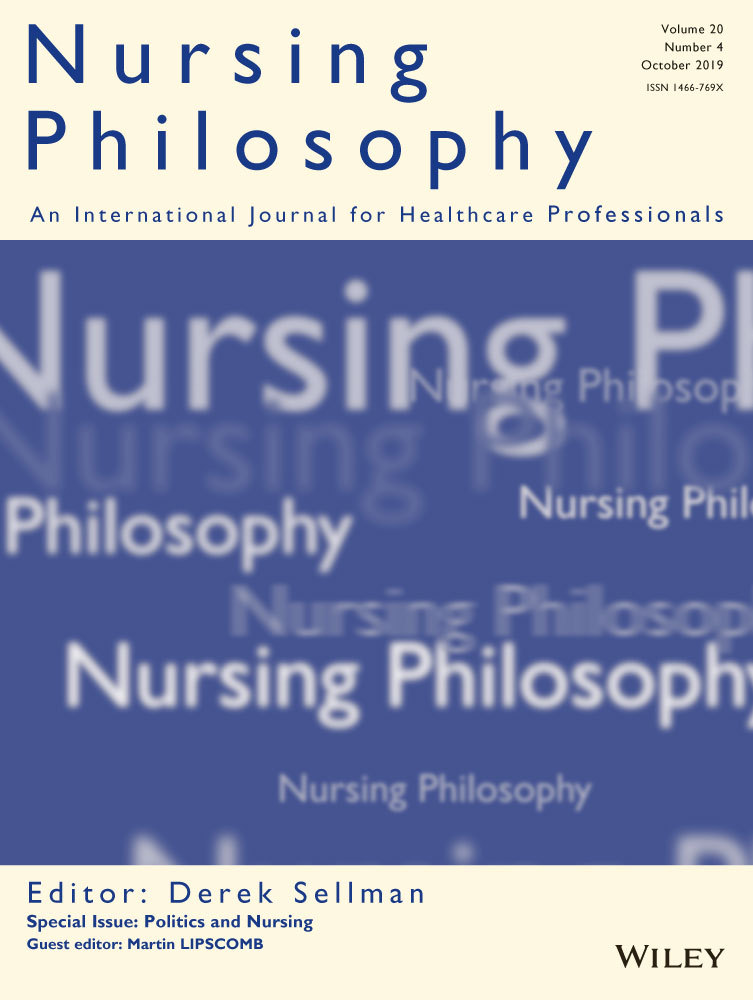cover of nursing philosophy journal