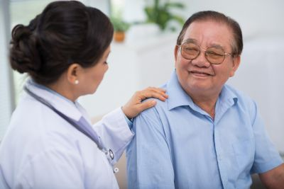 vietnamese man meeting with physician uci school of nursing has found that a culturally appropriate home-based caregiver intervention improves relationships and well being of dementia family caregivers