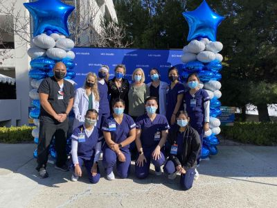 UCI School of Nursing students and faculty at covid-19 vaccination drive