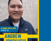 andrew jonokuchi is a registered nurse at ucla medical center and an alumni of uc irvine school of nursing