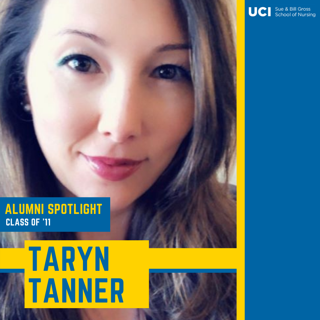 taryn tanner alum of the uci school of nursing in irvine california