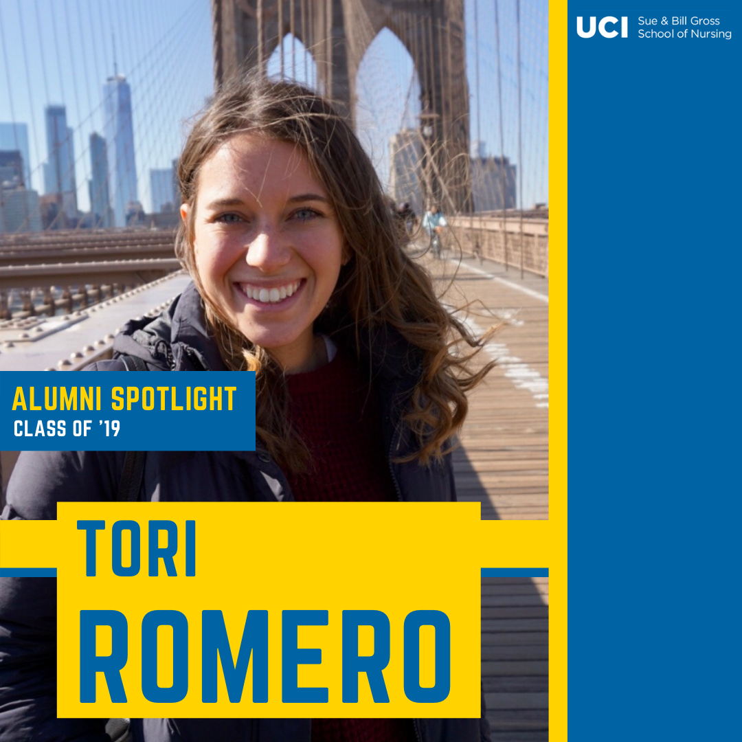 uc irvine school of nursing alum tori romero works at children's hospital los angeles CHLA