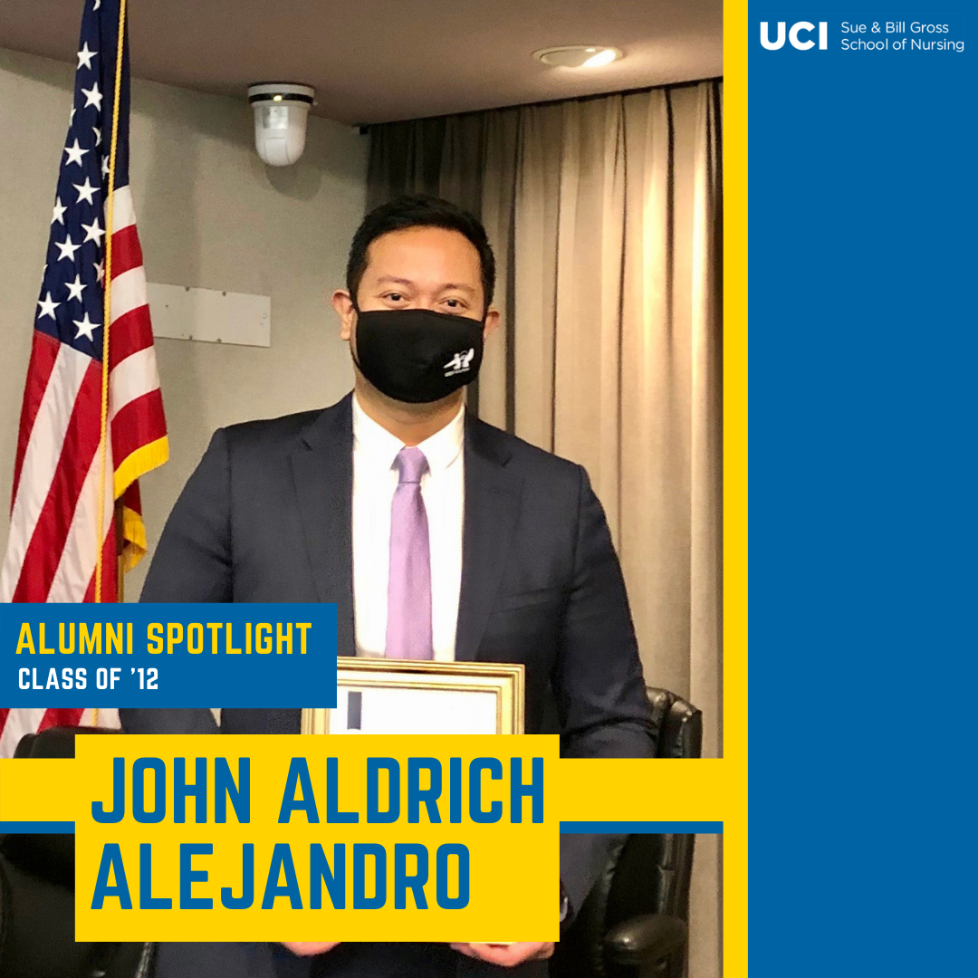 uc irvine school of nursing alum and alumni board member john aldrich alejandro