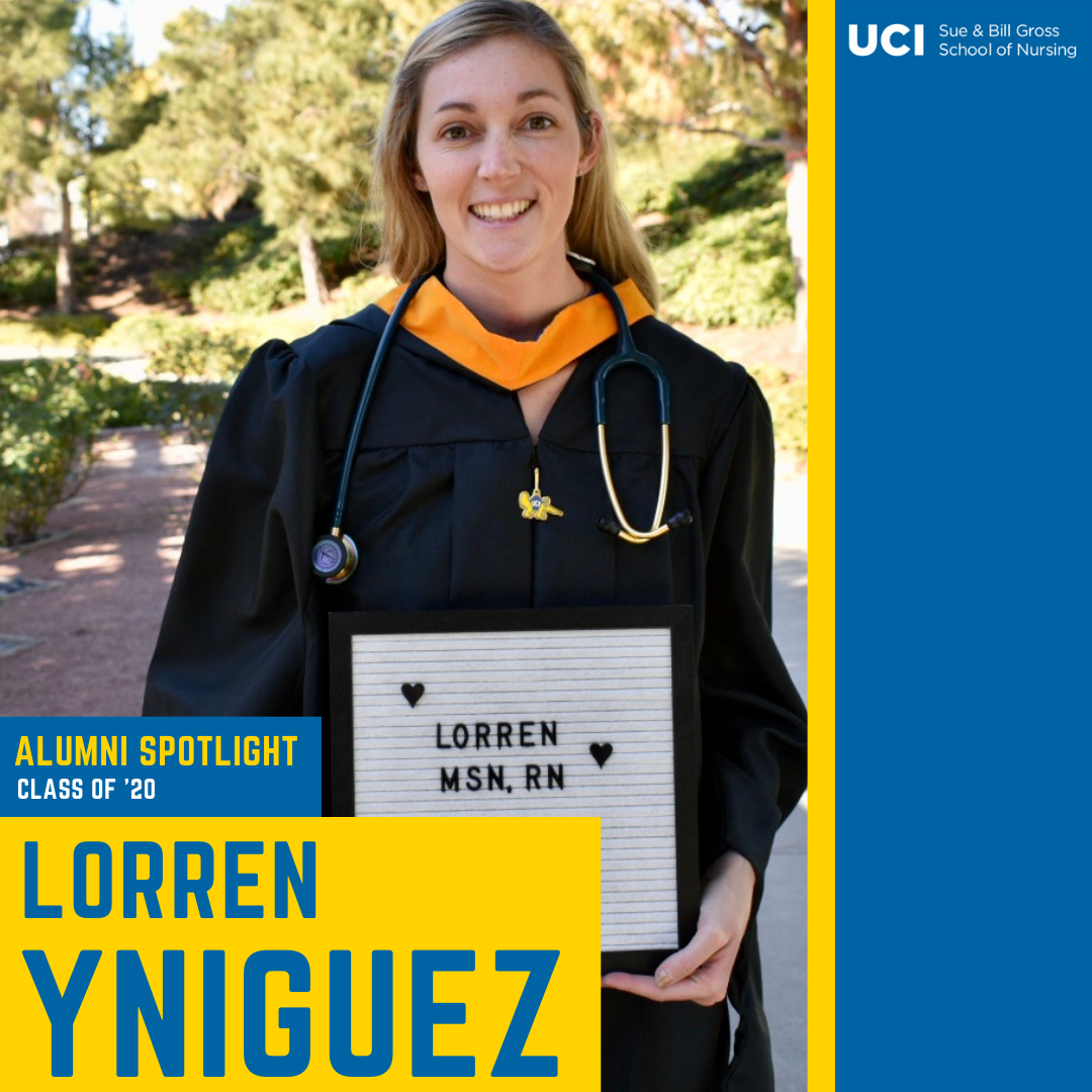 uc irvine school of nursing alumni lorren yniguez class of 2020