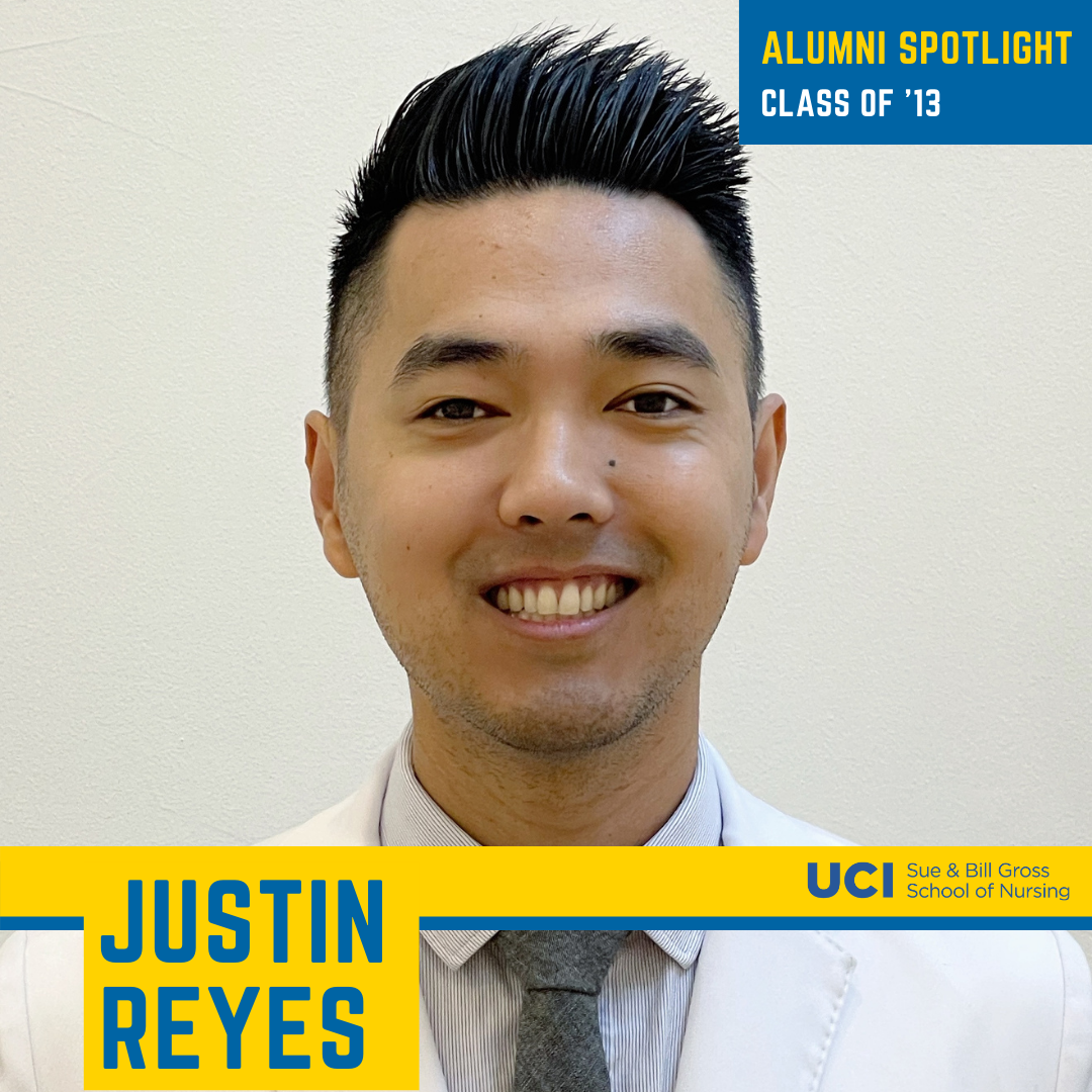UC Irvine School of Nursing alum Justin Reyes, '13, shares his experiences working as a nurse during the COVID-19 pandemic.