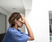 uc irvine school of nursing associate professor candace burton is studying how the covid-19 pandemic has traumatized nurses