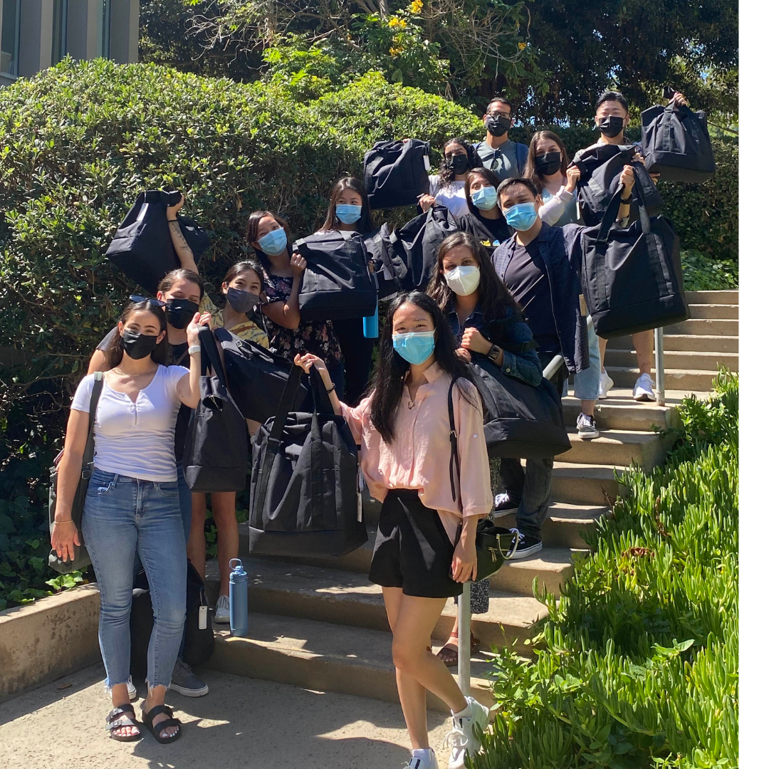 uc irvine school of nursing bachelor and masters students pick up their skills totes